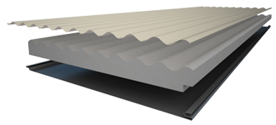Insulspan Insulated Roofing Panels - Corrugated Steel Profile