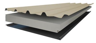 Insulspan Insulated Roof Panels - Monospan Steel Profile